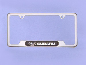 2007 Subaru Legacy Polished Stainless Steel License Plate F SOA342L127