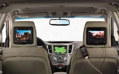 2013 Subaru Legacy Rear Seat Entertainment